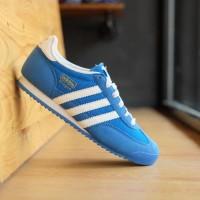 ORIGINAL Sepatu Adidas Dragon Blue White Running Sneakers