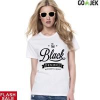 sz graphics t shirt wanita kaos wanita atasan wanita black denim