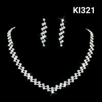 Perhiasan set fashion wanita anting kalung pesta wedding KI321