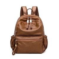 CIBYBAG Tas backpack kulit fashion korea tas wanita tas cewek coklat