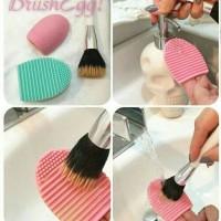 BRUSH EGG - ALAT PENCUCI KUAS MAKE UP BRUSH - Egg Brush