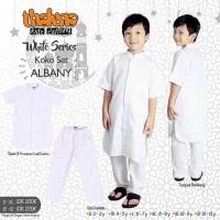 Disc 15% usia 2-9th baju setelan koko putih ALBANY THALUNA