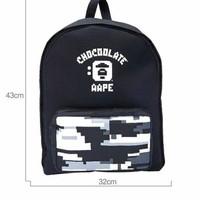 Chocoolate x aape backpack / tas aape bape chocoolate