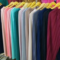 Celana kulot plisket impor