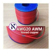 Kabel AWG 20 awm Red Merah Serabut tinned copper awg20