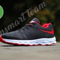 Sepatu casual sport running olahraga pria Nike vegasus black red