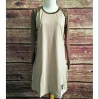 S-XL Baju Kaos Polos Tunik Muslimah Reglan Panjang/Baju Olah Raga