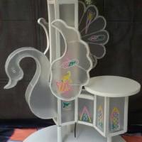 Standar Kue Pengantin 3 Tingkat (Wedding Cake Support)