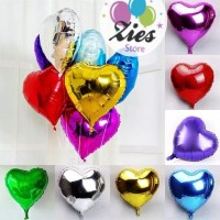balon foil love / balon foil hati / bentuk hati 40cm