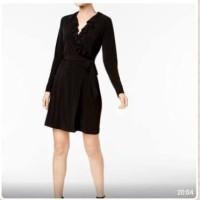 Baju Branded Murah Calvin Klein Black Kimono Dress Ori Premium