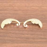 Meilyn Anting Jalar Angel Feather Lapis Emas