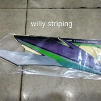 Striping sticker lis honda gl pro thn 1997 hitam hijau