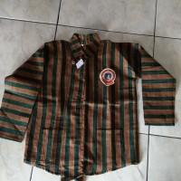 baju kemeja atasan lengan panjang tradisional jawa surjan lurik anak