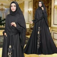 Gamis / Baju / Setelan Wanita Muslim Inez Syari + Hijab / good Quality
