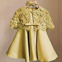 Baju Anak Perempuan / Dress Pesta Set Kids Kelly Gold