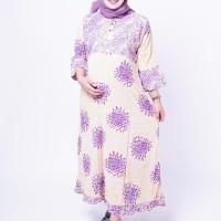 Baju Gamis Hamil Menyusui Kancing Tiga Gamis Batik Muslim - GMS 258