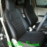 Cover jok Sarung jok mobil honda brio rs hitam polos bahan mbtech high