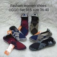 Sepatu OGGO flat rajut/anyaman tipe 915
