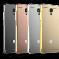 Bumper Case Mirror Xiaomi Mi4 Alumunium Metal Mirror Case Casing Cover