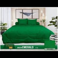 bedcover set my love california 180x200 warna hijau polos ori lembut
