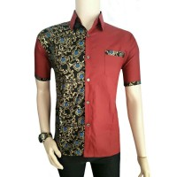 Baju kerja formal hem kemeja batik kekinian modern anak muda