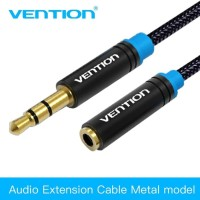 KABEL AUDIO EXTENSION VENTION 3.5 mm MALE TO FEMALE 2 METER - B06