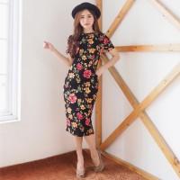 Rosa Midi Dress / bodycon / flower dress (289.225)