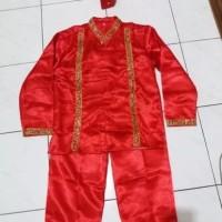 Baju anak adat Makasar laki laki ukuran M