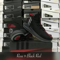 sepatu basket adidas derrick rose 9 black red grade original murah