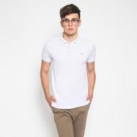 MON AKITA - Theo Men Polo Shirt White - Kaos Polo Pria Putih