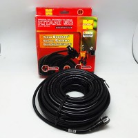 Kabel Antena TV Coaxial 5C+Jack RG6 Panjang 25M