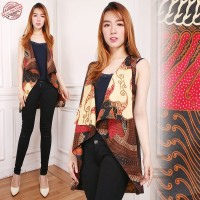SB Collection 2in1 Atasan Blouse Ria Blazer Outer Casual Batik Wanita