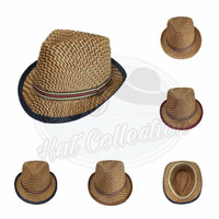 Topi Fedora Anak Import Bahan Anyaman