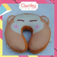 Bantal Leher Custom Printing Boneka Monyet Murah|Neck Pillow Monkey