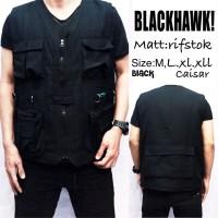 ROMPI BLACKHAWK BLACK / BLACK HAWK HITAM LAPANGAN / ARMY VEST MANCING