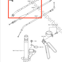 Kabel Speedometer Kawasaki KSR 110 Original, Ready Stock 22 agustus