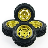 S06 RC Onroad / rally / off road tire - ban RC velg 1:10 gold rim