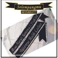 Selempang Wisuda/ Salempang Wisuda Pita Silver Bordir