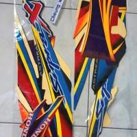 Striping/ stiker /lis body honda supra x 100cc 2004/2005 merah hitam