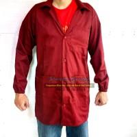 Jas / Baju Laboratorium Lab Lengan Panjang Praktikum Merah Maroon