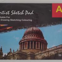 Tiara Sketch Pad A3 50 Lembar 150 Gr - Buku Sketsa Lukis Gambar Book