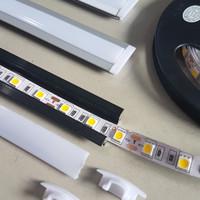 List Rail Lis Rel Rumah Cover Casing Lampu LED Strip Aluminium 1 METER