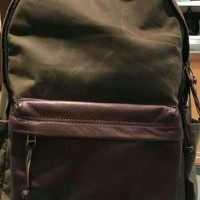 Tas Fossil Estate Backpack Canvass mix Leather Original