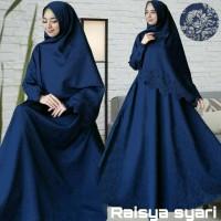 Gamis Muslim Raisya Syari (Embos + Laser) - Navy