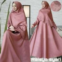 Gamis Muslim Raisya Syari (Embos + Laser) - Pink