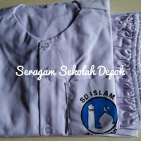 BAJU MUSLIM SET PUTRI - Celana Karet SDI Al Azhar Size 11-12
