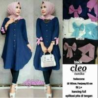 Baju Atasan Wnita Tunik Baju Muslim Blus Cleo Tunika