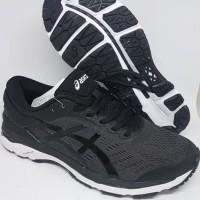 Sepatu olahraga running volly asics gel kayano 24 black white ori