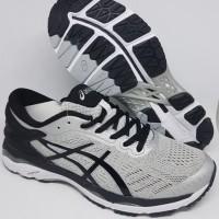 Sepatu olahraga running volly asics gel kayano 24 gray black ori