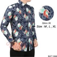 Baju Batik Modern Kemeja Lengan Panjang Slim BAT 1088